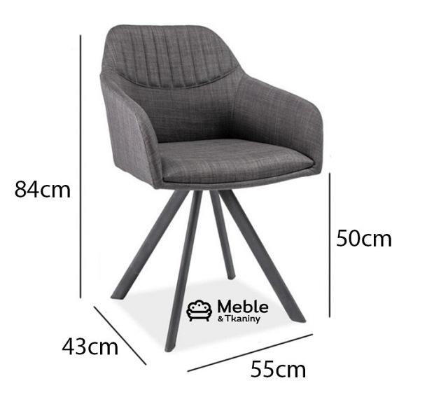 Krzesło Milton II szary