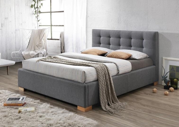 łóżko Copenhagen 160x200 Kolor Szarydąb Tap 23