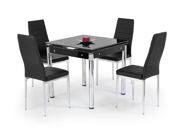 Super KENT stół rozkładany czarny, stal chromowana - Sklep MebleTkaniny.pl YI13