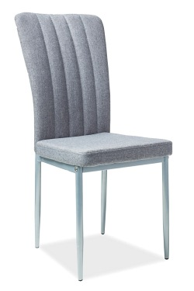 Krzesło H733 Szary Materiał Aluminium Stelaż